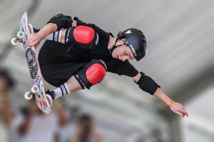 Skate Maresia Vert Jam, Jono Shwan. ©Leandra Benjamin