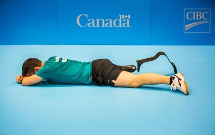 Toronto, Tênis de Mesa, na foto Paulo Salmin após vencer a disputa pelo ouro. ©Leandra Benjamin /MPIX/CPB