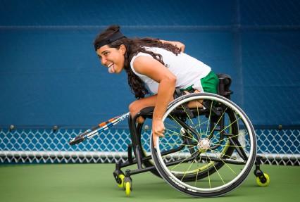 Toronto ,Tênis de Cadeira de Rodas, na foto Natália Mayara na disputa pelo ouro. ©Leandra Benjamin /MPIX/CPB