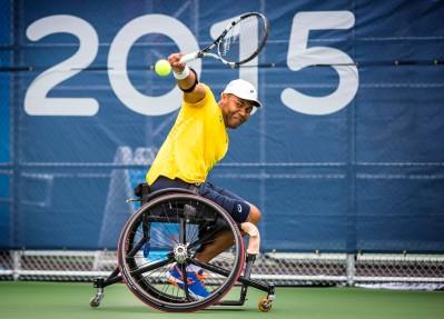 Toronto,Tênis de Cadeira de Rodas, na foto Daniel Rodrigues na disputa pelo bronze. ©Leandra Benjamin /MPIX/CPB