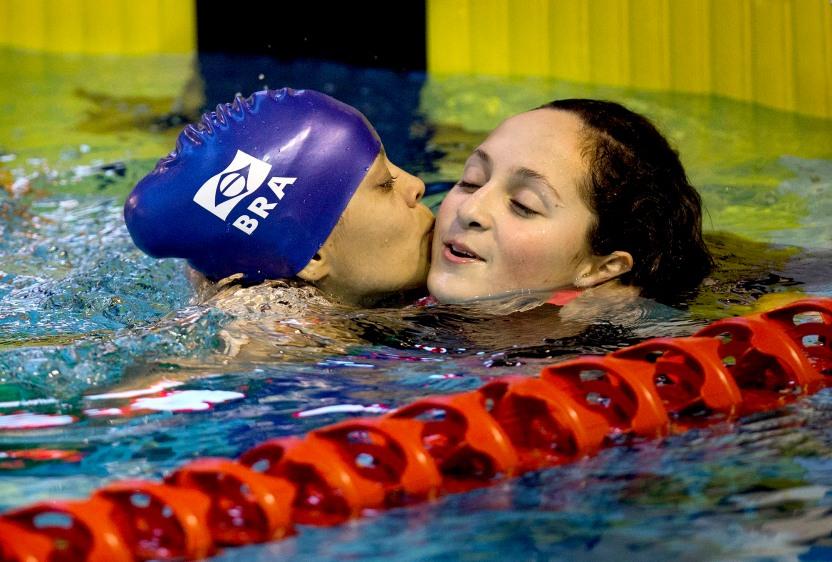 Mundial de Natação Glasgow - Joana Silva e Esthefany Oliveira. ©Leandra Benjamin/CPB/MPIX
